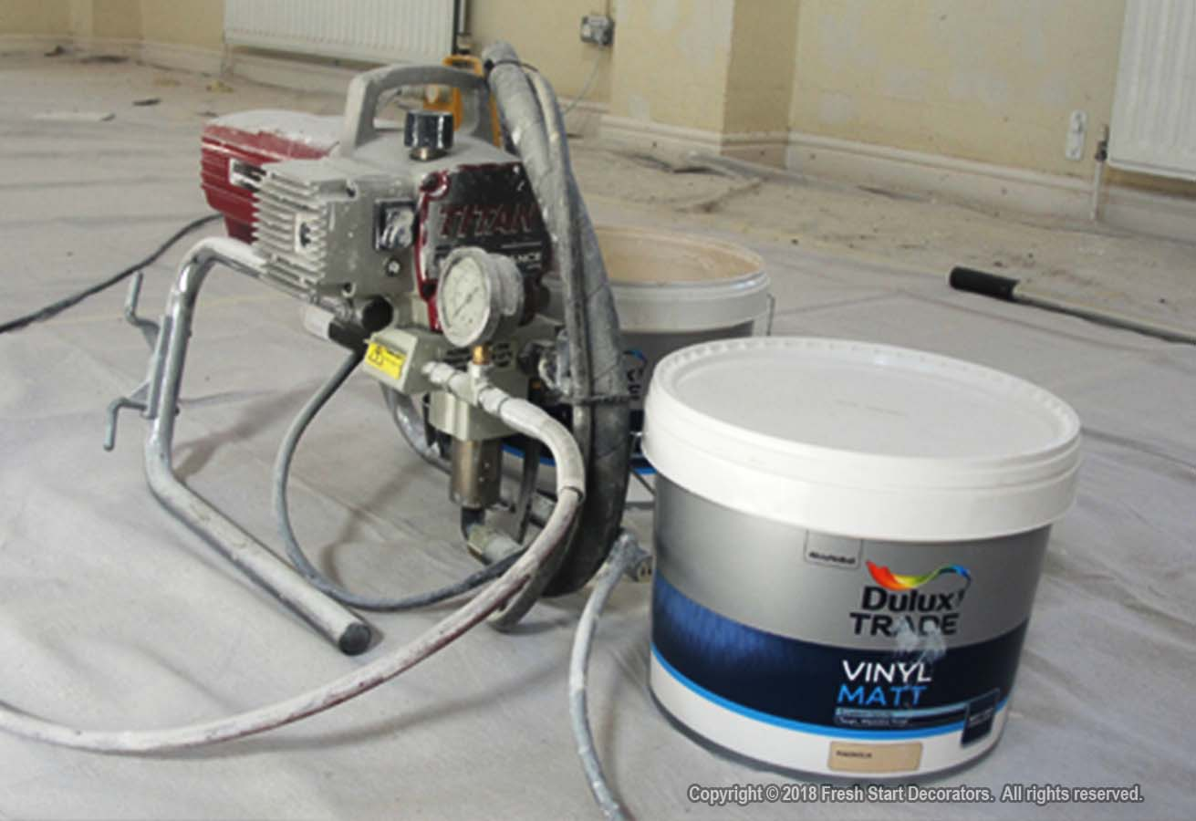 Airless paint spraying and epoxy paints