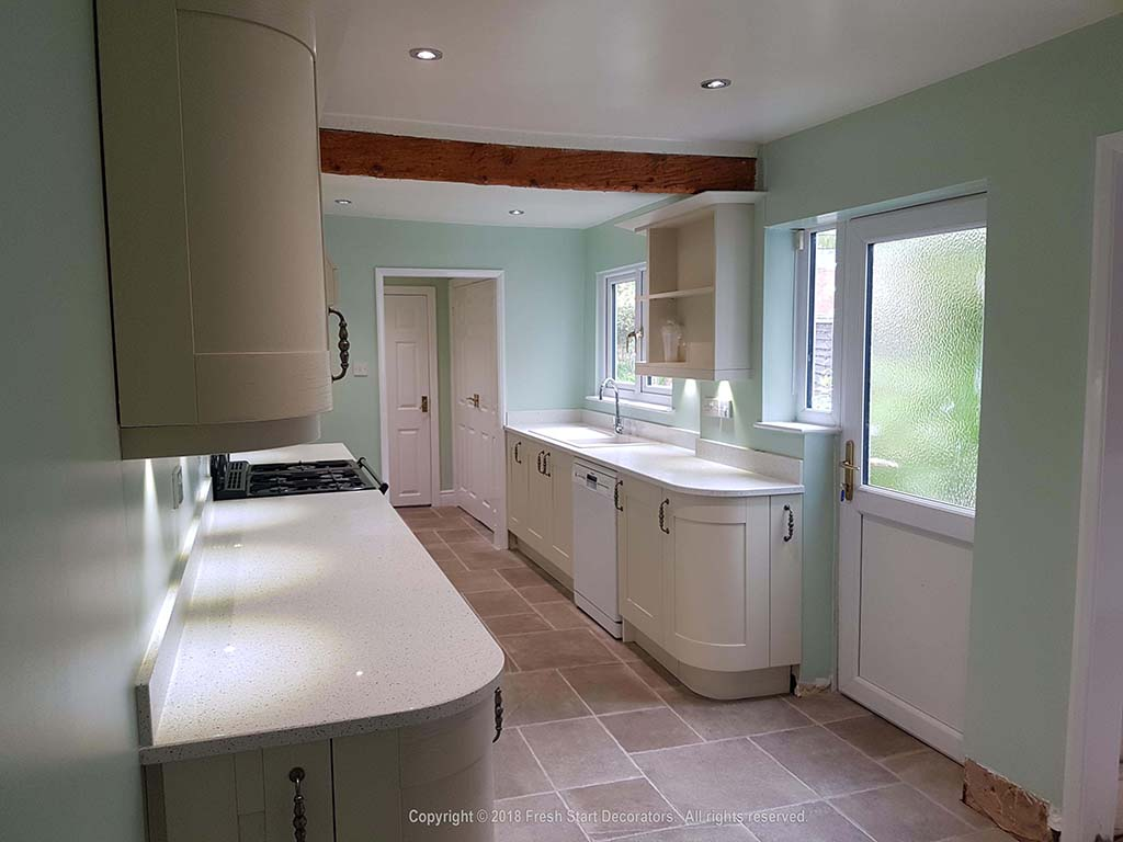 Kitchen in Birmingham with light paint