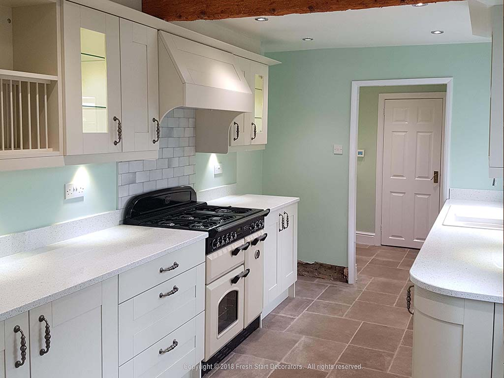 Kitchen looked perfect when painted fresh