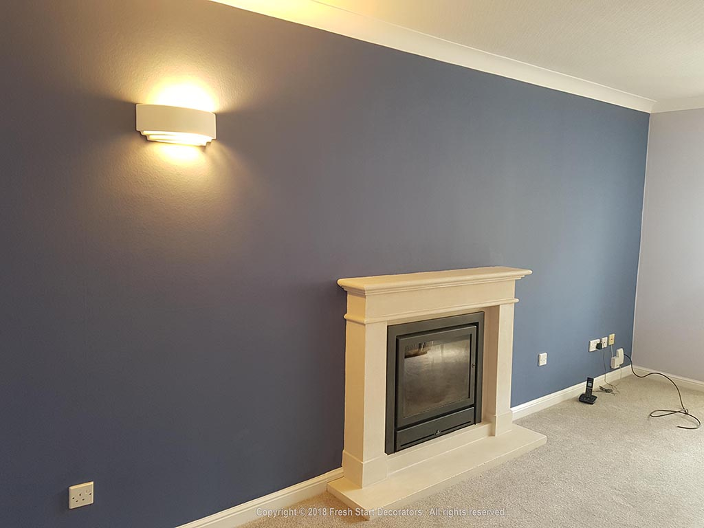 feature wall painted by fresh start decorators