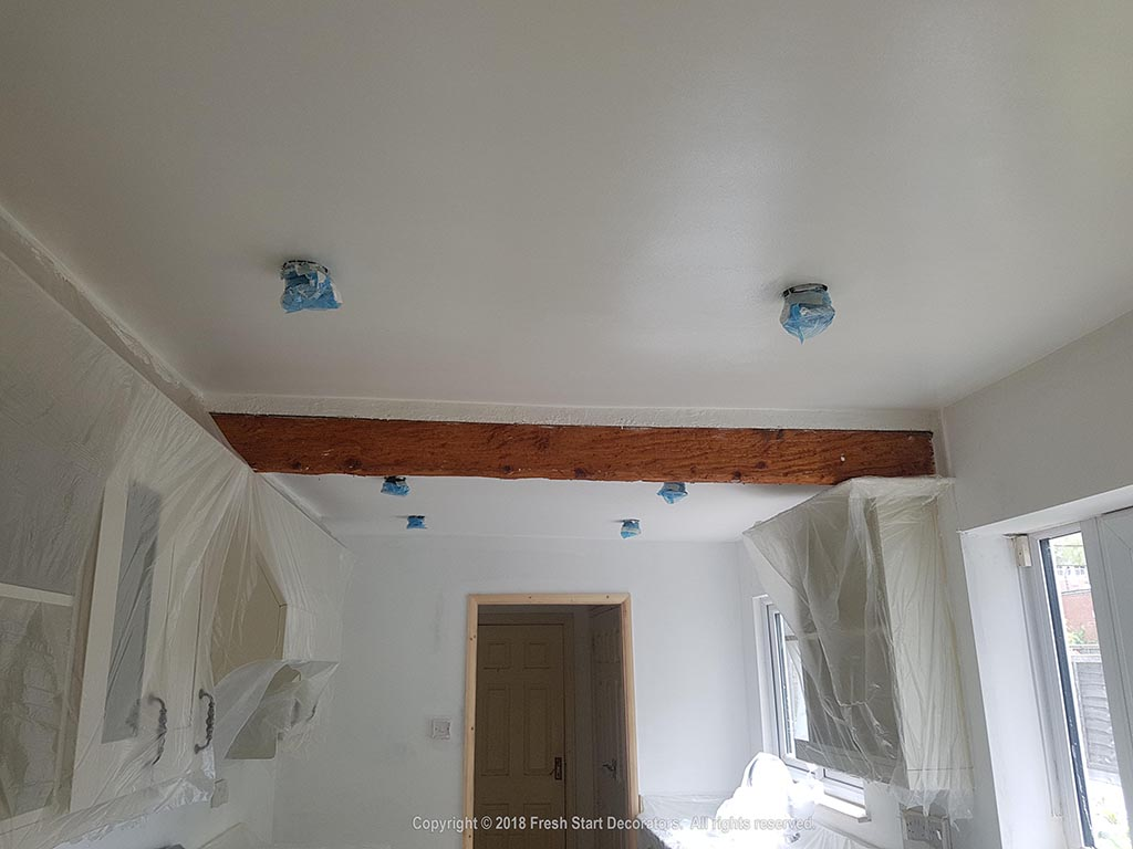 kitchen ceiling painted by fresh start decorators