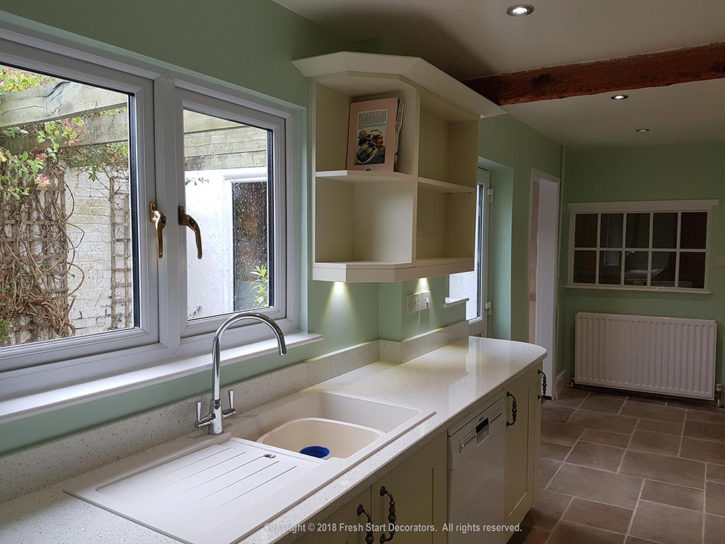 newly painted and decorated kitchen in birmingham