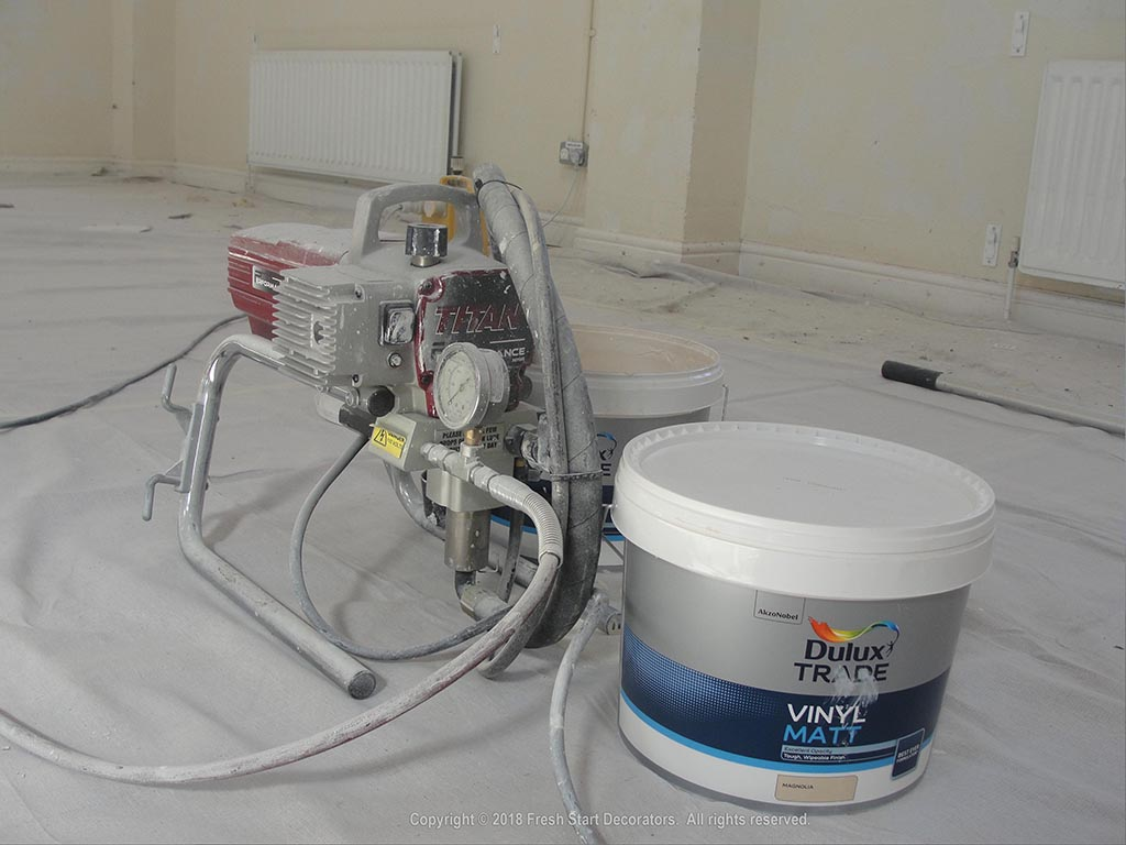 Interior paint spraying in birmingham by painters