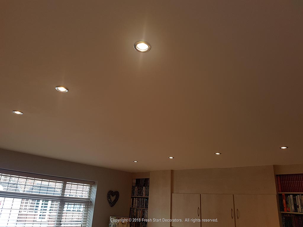 ceiling repaired by decorators