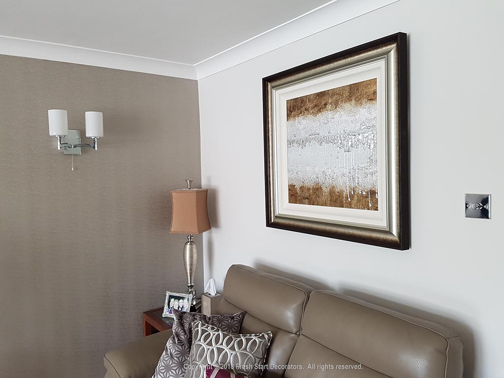 living room wallpaper by decorators in solihull