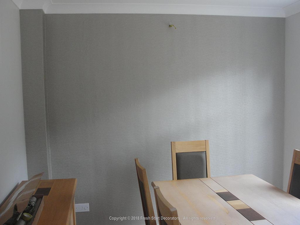 dining room wallpaper by solihull decorators
