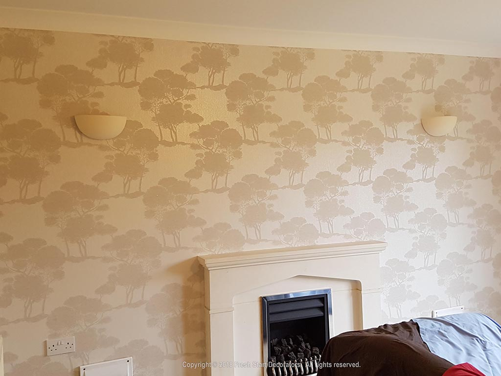 feature wallpaper by fresh start decorators