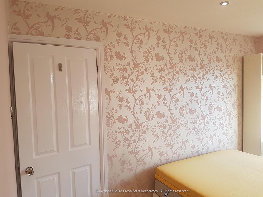 feature wall in bedroom